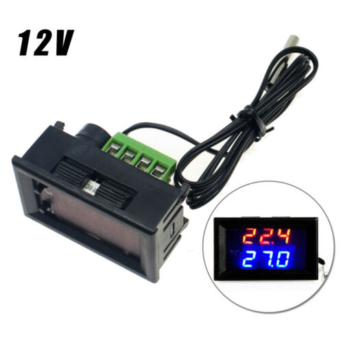 Microcomputer Thermostat Switch Temperature Controller 12V Digital LED Display
