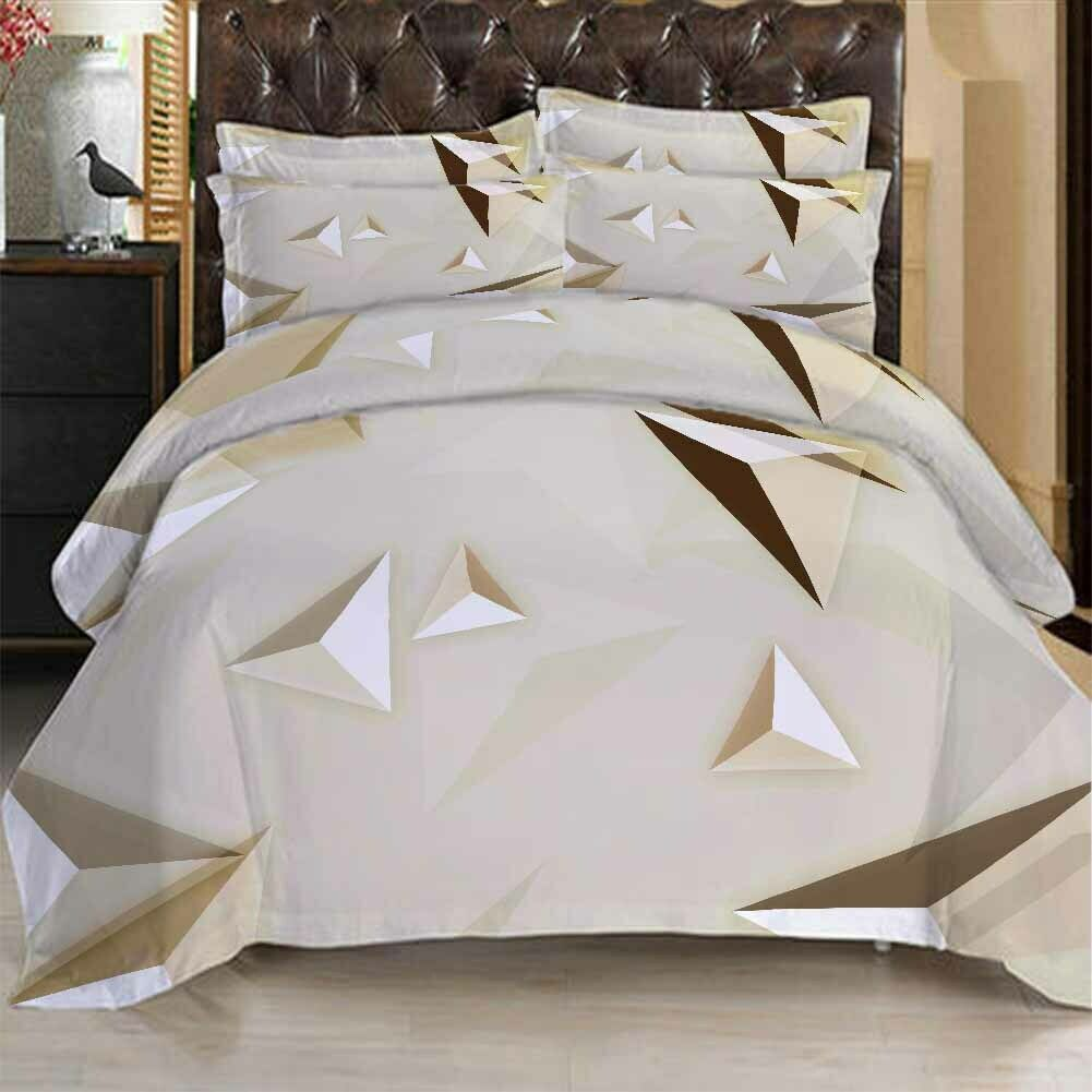 Cubic Triangle 3D Printing Duvet Quilt Doona Covers Pillow Case Bedding Sets