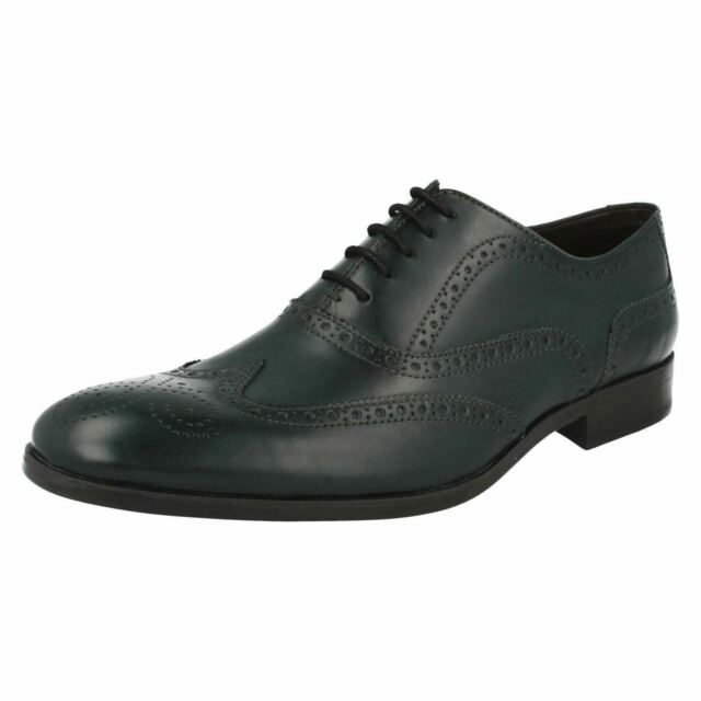 a5c618aea6c Mens Clarks Formal Brogues Banfield Limit 11 UK Dark Green G for ...