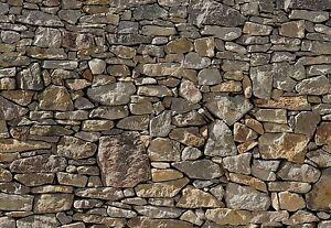 Mur De Pierre Photo Papier Peint Mure Mural Grand Stony Fabrique En