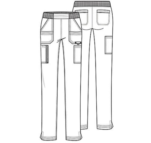Navy Blue Dickies Scrubs Advance Mid Rise Tapered Leg Pull On Pants DK195 NVYZ