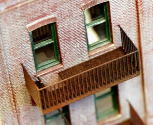4 Stories of FIRE ESCAPES for your Structures HO Scale Detailing