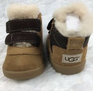 0621d4083d8 Details about UGG Australia Baby Booties Boys Boots Brown Sz 0/1 Pritchard  Suede 0-6 Months