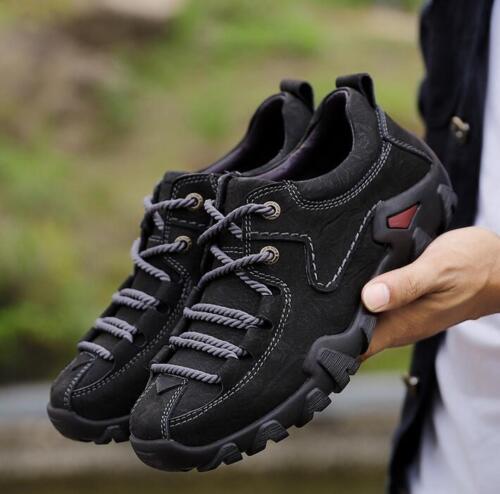 hommes à unie de véritable couleur sport occasionnels lacets Chaussures pour l'extérieur cuir C730 en PgtwTxdq