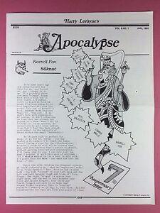 Grosses Soldes Harry Lorayne's Apocalypse - Magiciens Newsletter Vol.8 / N°1 - 1985 - Magique
