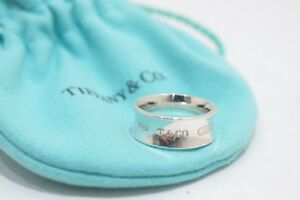 1f932d1b5245c Details about Tiffany & Co. Sterling Silver 7mm Wide 1837 Concave Band Ring  Size 4.5