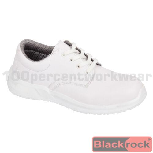 Blackrock SRC03 WHITE Safety Work Lace Up Shoes Steel Toe Cap Food Medical Lab