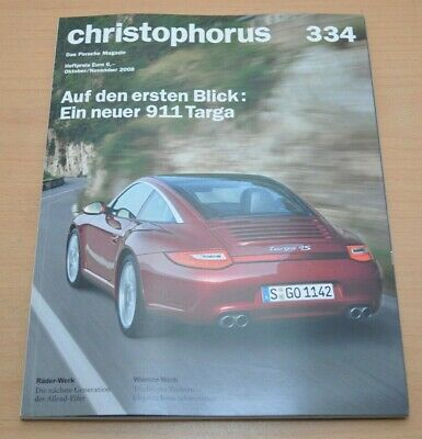 FäHig Porsche Christophorus Nr. 334 Magazin 10/08 911 Targa Carrera