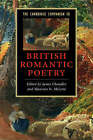 The Cambridge Companion to British Romantic Poetry by Maureen N. McLane (Paperback, 2008)