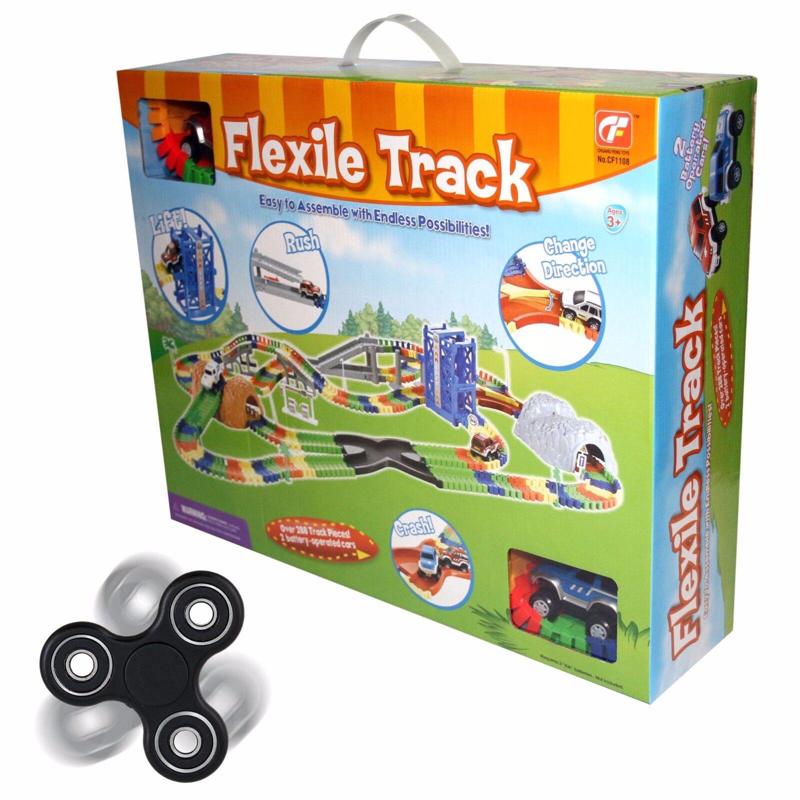 Créer une route flexile voiture et  piste plus de 288 Pièces Libre Spinner fidger Toy  haute qualité générale