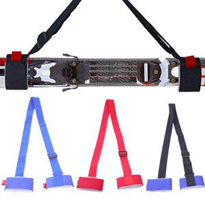 ski carrier holder carrying sling strap carry tie skis