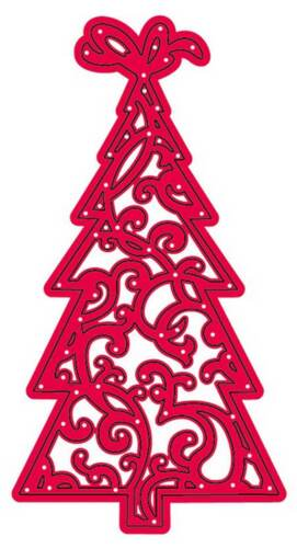 CLEARANCE Crafts Too Die Cutting /& Embossing Stencil Flourish Christmas Tree