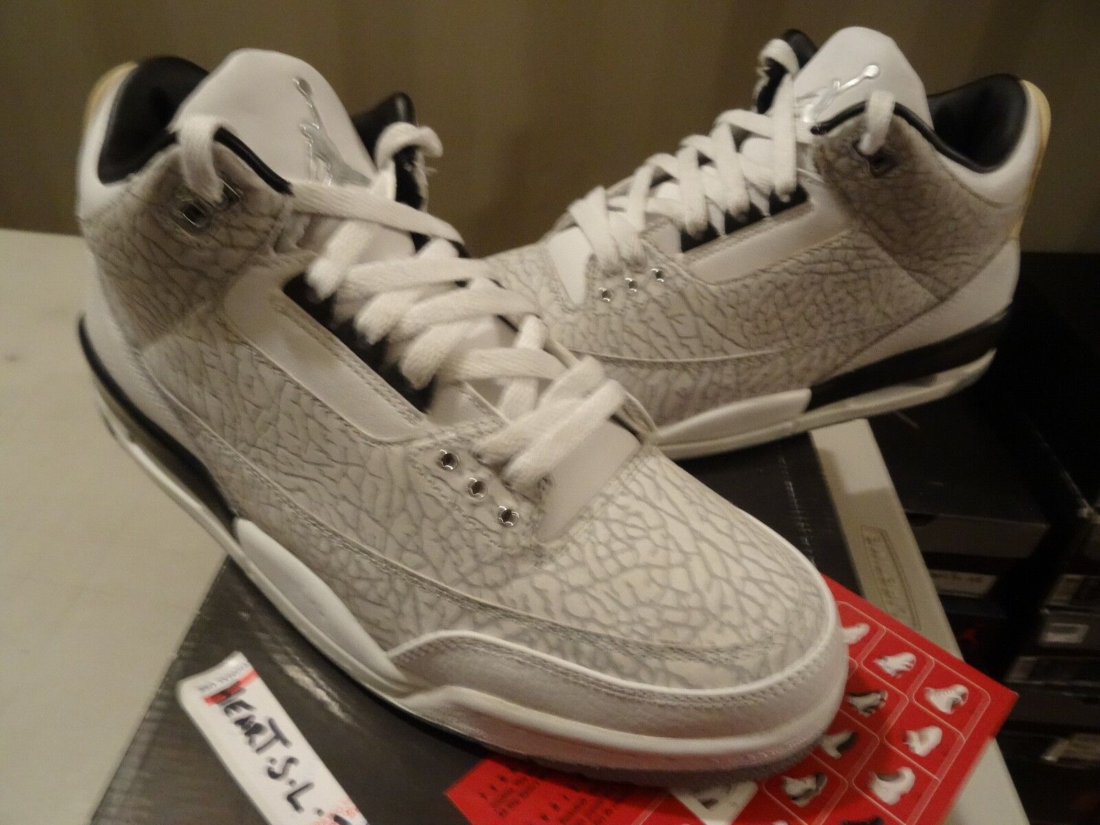 2007 Nike Air Jordan III 3 Retro FLIP CEMENT GREY WHITE BLACK 315767-101 SZ 11.5