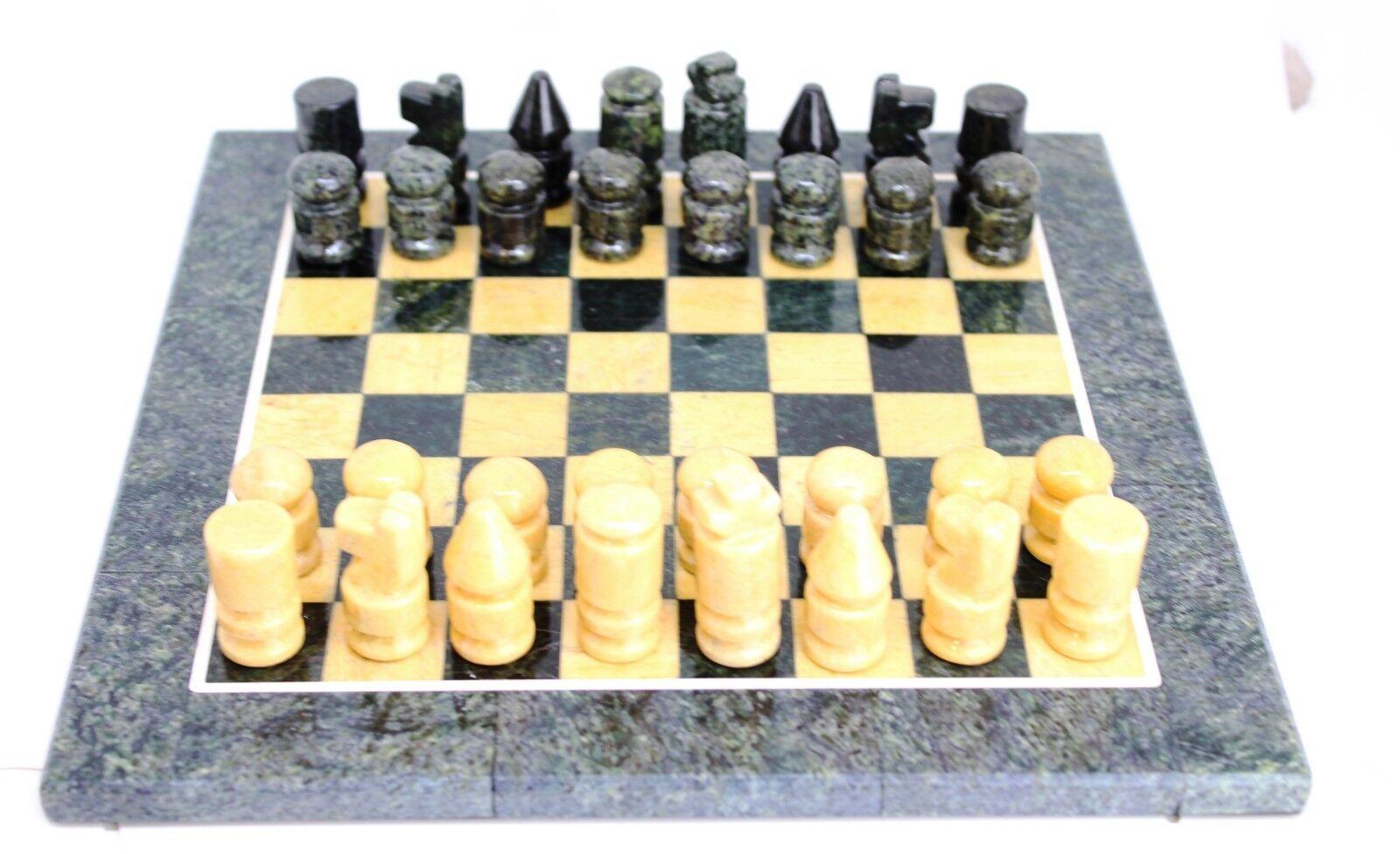 Ajedrez Chess Schack Piedra Calcite Serpentinite Crystal Piedra Stone Mineral