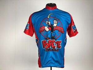 2f6e6f19b Image is loading Vintage-Popeye-Cycling-Jersey-Retro-Image-Apparel-Co-