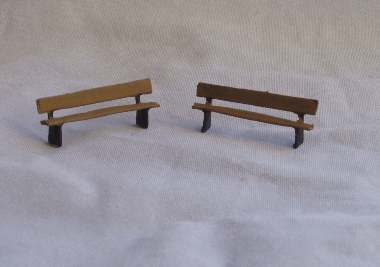 P&D Marsh OO Gauge Z16 Z16 Z16 Benches (4) painted & finished 16127b