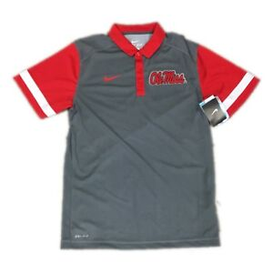 6cf5904eb NEW NWT Mississippi Ole Miss Rebels Nike Dri Fit Team Stripe Polo ...