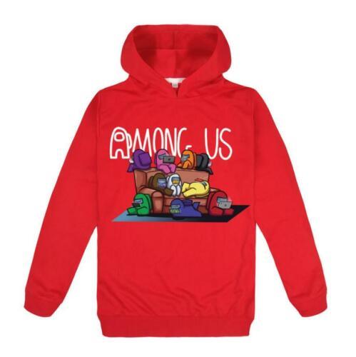 Kids Among Us Impostor Game Casual Hoodie Sweatshirt Jumper Hooded Tops 2-16Y UK