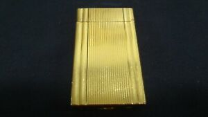 S-T-Dupont-Large-Windsor-Lighter-Gold-Plated-Vintage