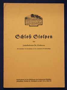 Bachmann-Schloss-Stolpen-um-1930-Sonderdruck-Sachsen-Saxonica-Ortskunde-sf