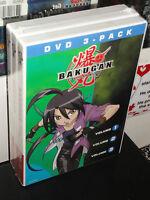Bakugan Volume 1, 2, 3 (3-dvds) Cartoon Network 3-disc Set Brand