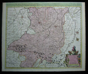 1700 Original Sanson Mortier Large Map of Northern Italy Bologna