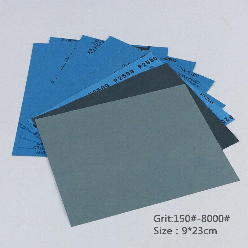 "3Pcs 2000 Grit Sandpaper Waterproof Abrasive Polishing Sand Paper Sheet 11/""*9/"""