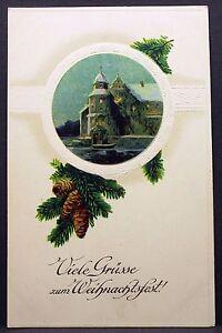 Landsturm-Infanterie-Bataillon-Christmas-1916-WK1-Field-post-Embossed-Postcard