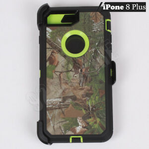 huge selection of f4551 82908 Details about For Apple iPhone 8 Plus Green/Tree Camo Defender Case (Clip  Fits Otterbox)