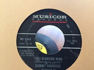 Sammy Ambrose This Diamond Ring / Bad Night Northern Soul 45 Record on Musicor