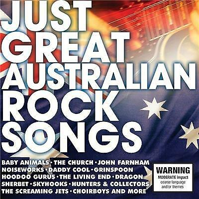 JUST GREAT AUSTRALIAN ROCK SONGS - Various Artists 2CD *NEW* 2017