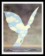 Rene Magritte La grande famillle Poster Kunstdruck Bild im Alu Rahmen 60x48 cm