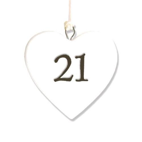 21st Anniversaire Cadeau 21 Porcelaine Cœur par East of India 4130 eoi