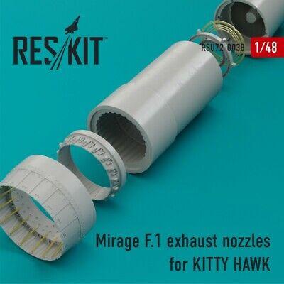 1//48 ResKit RSU48-0015 Resin Upgrade set MIRAGE III E  exhaust nozzles KINETIC