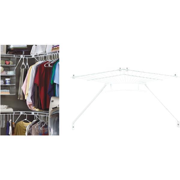 4 pk ClosetMaid 12 In. Shelf & Rod White Wire Closet Corner Shelf Kit Aide