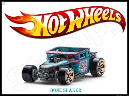 "Hot Wheels Bone Shaker Metal Sign 9/"" x 12/"""