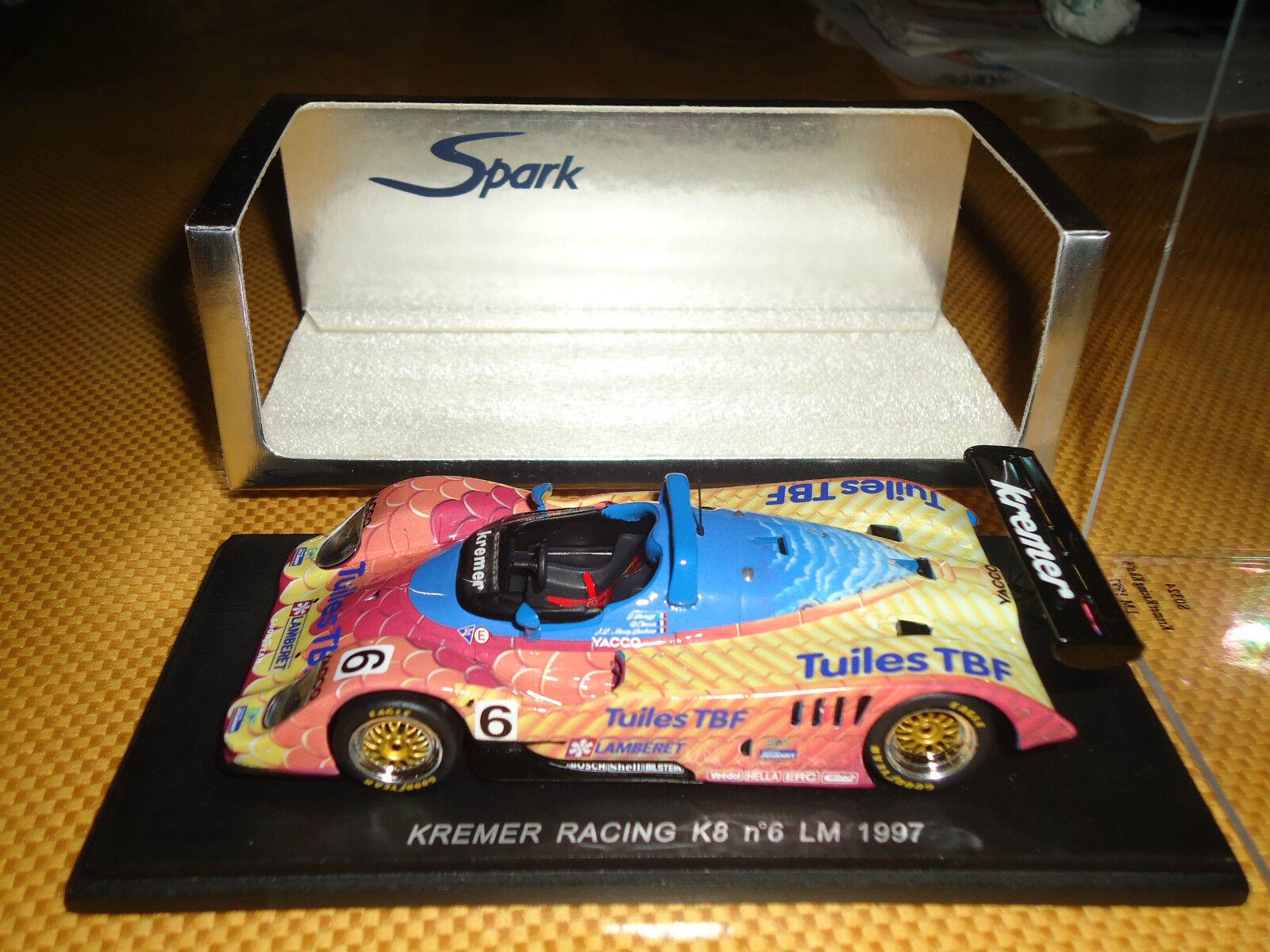 Spark 1 43 Kremer Racing K8  6 Le Mans 1997 Tuiles TBF s0324