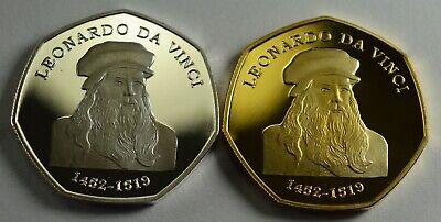 VITRUVIAN MAN LEONARDO DA VINCI Collectors Album//Token//Medal .999 Silver