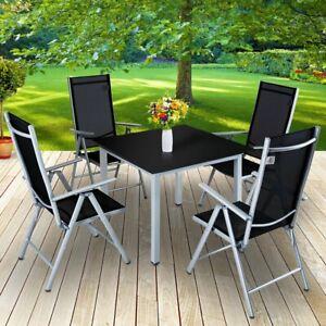 Set Tavolo E Sedie Da Giardino In Alluminio.Dettagli Su Set Tavolo E Sedie Pieghevoli In Alluminio Da Giardino Arredo Esterni 2 Colori