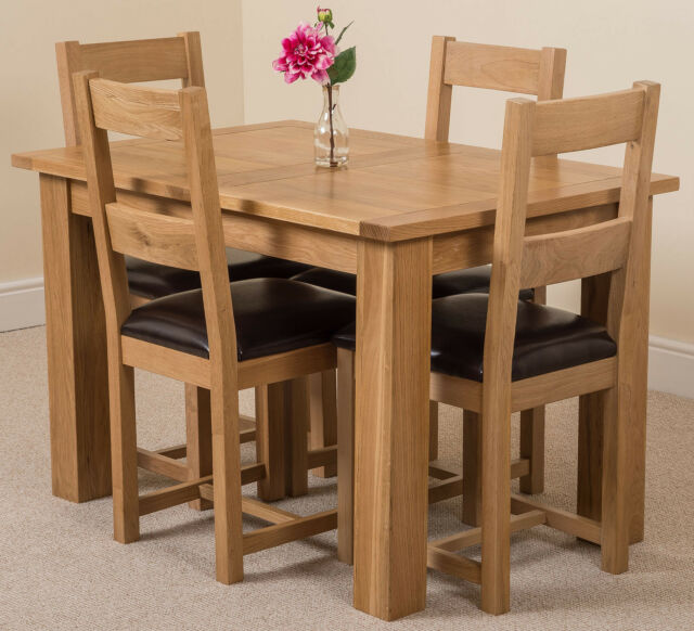 Oak Extending Dining Table Chair Set Solid Oak Hampton With Lincoln Oak Chairs