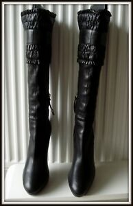 41 Boots Noir Italie Bottes Vintage Made Cuir Miu Bottines vYZqn4w