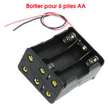 6 x 1.5V AA Batteries Battery Holder Case Box Wire Leads DIY RC Black Tow Layers