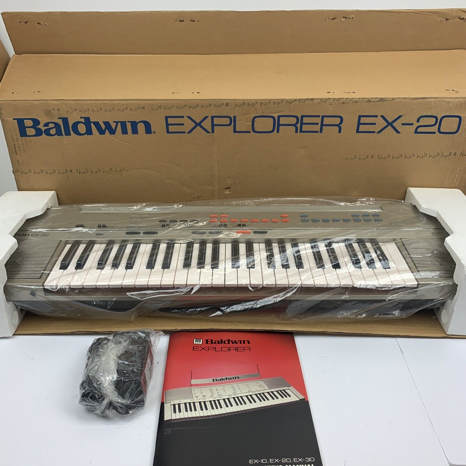 NOS Vintage Baldwin Explorer EX-20 Keyboard SyntheGrößer Klavier Neue Marke in Box