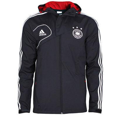 ADIDAS DFB Travel Jacke Reisejacke Deutschland Fußballjacke mit Kapuze schwarz | eBay