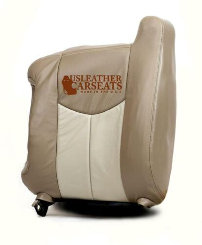 2003 GMC Sierra 1500 Denali Quad Cab Driver Lean Back Leather Seat Cover Tan