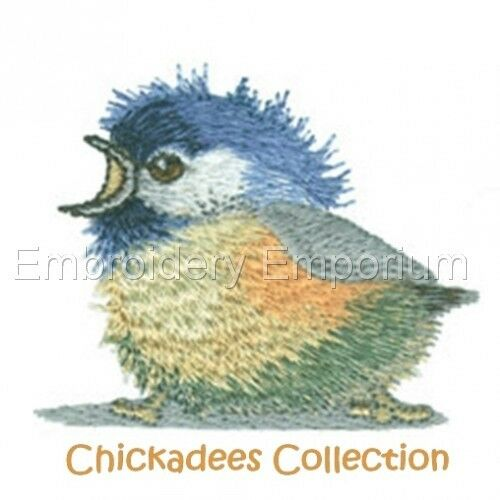 MACHINE EMBROIDERY DESIGNS ON CD OR USB CHICKADEES COLLECTION