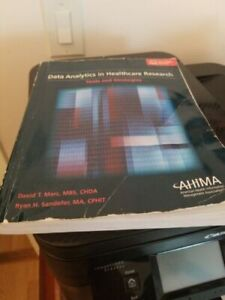 Data Analytics In Healthcare Research Tools And Strategies By David Marc 9781584264439 Ebay