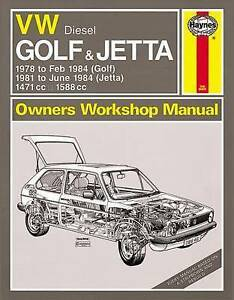 vw golf haynes workshop manual mk1 jetta caddy 1978 1984 1471cc rh ebay co uk 2002 Volkswagen Golf Volkswagen Golf Car