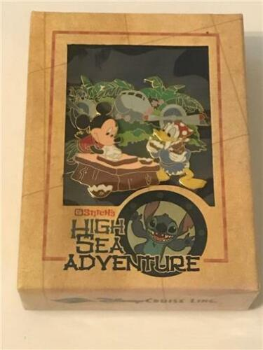 DCL STITCH'S HIGH SEA ADVENTURE GREAT LANDING LE 500 JUMBO DISNEY PIN 41597