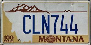 GENUINE-American-Montana-Centennial-1889-1989-License-Number-Plate-CLN-744